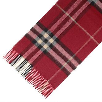 Burberry BURBERRY cashmere scarf GIANT ICON parade red check 3953534 168: CS 6045B PARADE RED CHECK