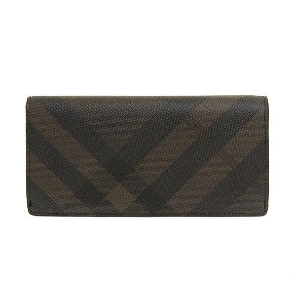 バーバリー BURBERRY 財布 メンズ 長財布(小銭入れ付) ブラウン/ブラックチェック CAVENDISH 3996180 SMV:PCAL 2070B CHOCOLATE/BLACK【英国】