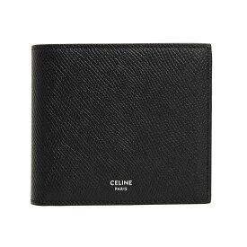 セリーヌ CELINE 財布 メンズ 二つ折り財布(小銭入れ付き) ブラック BI-FOLD WALLET WITH COIN 10C87 3BEL 38SI BLACK