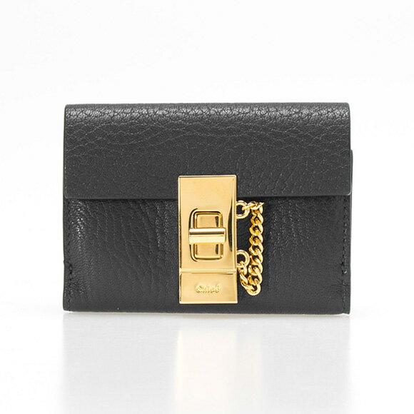 クロエ Chloe 財布 レディース 三つ折り財布 ミニ財布 DREW [ドリュー] ブラック 3P0841 944 001 BLACK