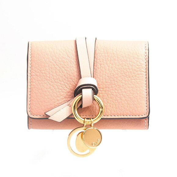 クロエ CHLOE 財布 レディース 三つ折り財布 ミニ財布 ヌードピンク ALPHABET COMPACT WALLET CHC17AP946 / 3P0946 H9Q 24L BRUSH NUDE