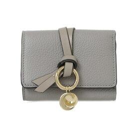 クロエ CHLOE 財布 レディース 三つ折り財布 カシミアグレー ALPHABET COMPACT WALLET CHC17AP946 / 3P0946 H9Q 053 CASHMERE GREY