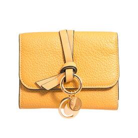 クロエ CHLOE 財布 レディース 三つ折り財布 ハニーゴールドイエロー ALPHABET SMALL TRI-FOLD CHC17AP945 / 3P0945 H9Q 746 HONEY GOLD