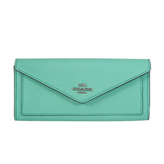 Coach COACH Womens wallets wallet aqua blue CRI LTH SFT WALL 57214 SV/AQUA