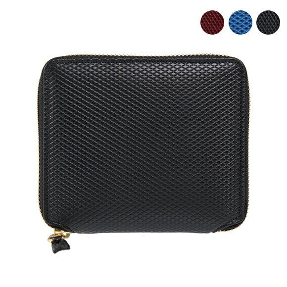 コムデギャルソン COMME DES GARCONS 財布 ラウンドファスナー二つ折り財布 [全3色] ブラック/ブルー/レッド LUXURY SA2100LG BLACK/BLUE/BURGUNDY