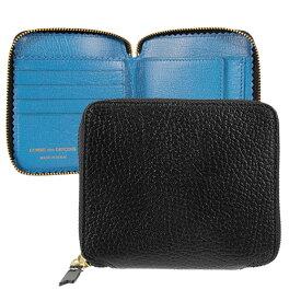 コムデギャルソン COMME DES GARCONS 財布 ラウンドファスナー二つ折り財布 ブラック/ブルー COLOUR INSIDE SA2100IC BLACK/ BLUE