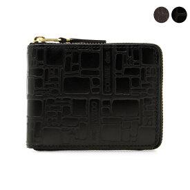 コムデギャルソン COMME DES GARCONS 財布 ラウンドファスナー二つ折り財布 ブラック EMBOSSED LOGOTYPE SA7100EL BLACK【ミニ財布】
