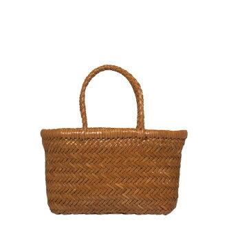 Dragon defu John DRAGON DIFFUSION bag ladies leather mesh basket than Braun MINI FLAT GORA SMALL 8809 TAN cagobag