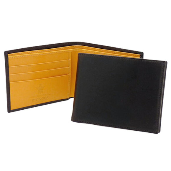 エッティンガー ETTINGER 財布 メンズ 二つ折り財布 (小銭入れ付) ブラック ブライドルレザー BILLFOLD WITH 3 C/C & COIN PURSE BH141JR BLACK BRIDLE HIDE COLLECTION【英国】