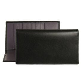エッティンガー ETTINGER 財布 メンズ 長財布 ブラック PURPLE/STERLING COLLECTION COAT WALLET ST806AJR BLACK/PURPLE【英国】