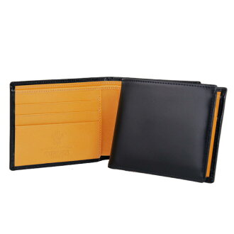 Ettinger ETTINGER wallet men folio wallet (with a coin purse) navy brei dollar leather BILLFOLD WITH 3 C/C & COIN PURSE BH141JR NAVY BRIDLE HIDE COLLECTION