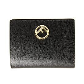 フェンディ FENDI 財布 レディース 二つ折り財布 ブラック F IS FENDI SMALL WALLET 8M0387 A18B F0KUR BLACK【ミニ財布】
