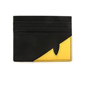 フェンディ FENDI メンズ カードケース ブラック×サンフラワーイエロー CORNER BUGS BUSINESS CARD HOLDER 7M0164 A9ZA F0R2A NERO+SUNFLOWER+PALLADIO