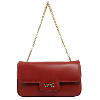 Salvatore Ferragamo LUCIANA [Luciana] chain handle shoulder bag red 21B723 473531 ROSSO SALVATORE FERRAGAMO Salvatore Ferragamo