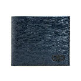 サルヴァトーレフェラガモ SALVATORE FERRAGAMO 財布 メンズ 二つ折り財布(小銭入れ付) ネイビー 66A065 0704887 NAVY
