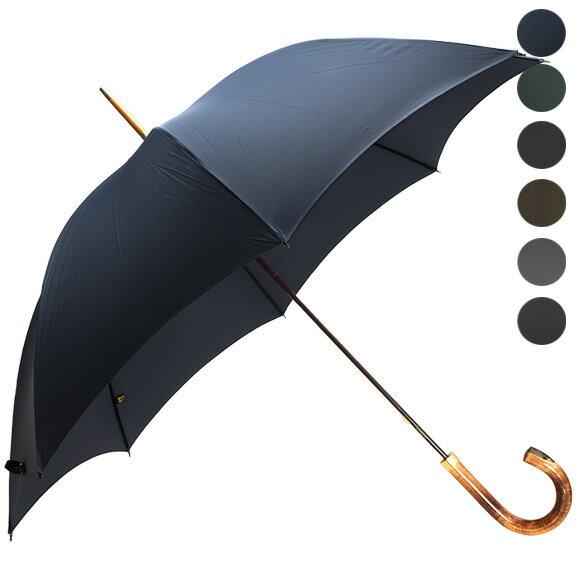 フォックスアンブレラズ FOX UMBRELLAS 傘 GT18 メンズ 高級長傘 [全3色] HORN INSET HARDWOOD HANDLE 【国内配送G】【送料無料】【レイングッズ】【英国】