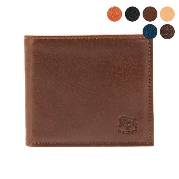 イルビゾンテ IL BISONTE 財布 二つ折り財布(小銭入れ付) COWHIDE WALLET WITH COIN PURSE C0487 MP [全8色]