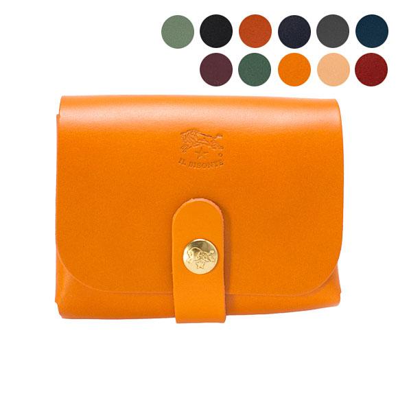 イルビゾンテ IL BISONTE 財布 カードケース COWHIDE CARD HOLDER C0848 P [全9色]