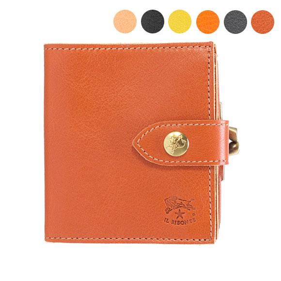イルビゾンテ IL BISONTE 財布 二つ折り財布 C1033 P [全6色]