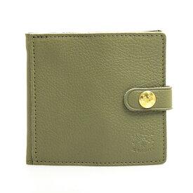 217a11f35cf9 イルビゾンテ IL BISONTE 財布 二つ折り財布(小銭入れ付) ミニ財布 オリーブグリーン