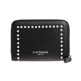 a63c97fad566 ジェイアンドエムデヴィッドソン J&M DAVIDSON 財布 レディース カードケース/コインケース ブラック 黒