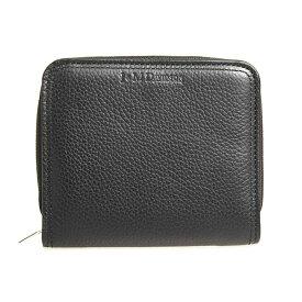 ジェイアンドエムデヴィッドソン J&M DAVIDSON 財布 レディース 二つ折り財布 ブラック COIN/CARD WALLET 10245N 7470 9990 BLACK【英国】【ミニ財布】