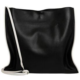 ジルサンダー JIL SANDER バッグ レディース ショルダーバッグ ブラック×ホワイト RIBBON BORDER TOTE JSPR852434 WRB69140 001 BLACK