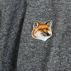 Maison Fox MAISON KITSUNE mens short sleeve T shirt TEE SHIRT FOX HEAD PATCH dark BKM BLACK MELANGE