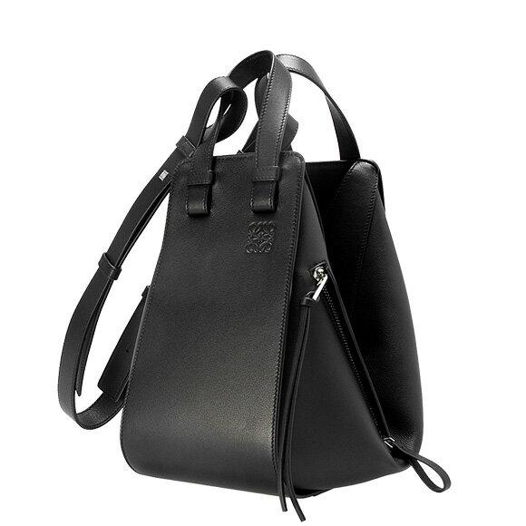 【全品ポイント3倍】 ロエベ LOEWE バッグ レディース 2WAYショルダーバッグ HAMMOCK SMALL BAG [ハンモック スモールバッグ] ブラック 黒 387 30 S35 1100 BLACK