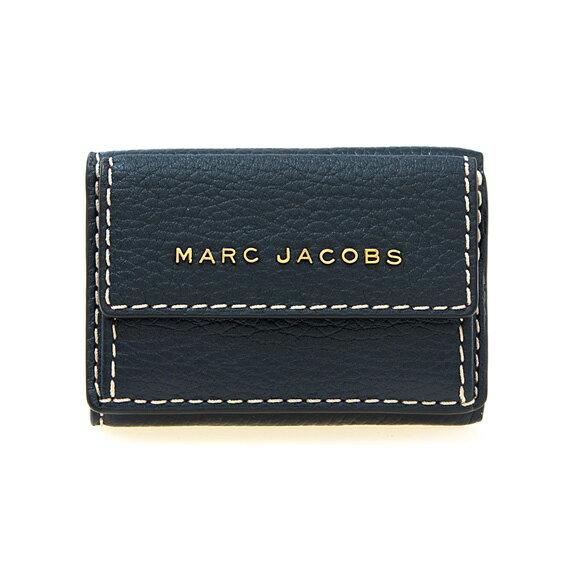 マークジェイコブス MARC JACOBS 財布 レディース 三つ折り財布 シーブルー THE GRIND MINI LEATHER TRIFOLD WALLET M0014702 426 BLUE SEA