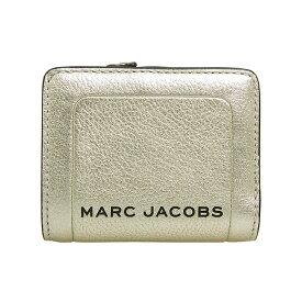 マークジェイコブス MARC JACOBS 財布 レディース 二つ折り財布 プラチナシルバー THE METALLIC TEXTURED BOX MINI COMPACT WALLET M0016186 045 PLATINUM【ミニ財布】