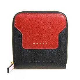 マルニ MARNI 財布 レディース ラウンドファスナー二つ折り財布 レッド×ブラック PFMOQ09U08 LV520 Z253N RED BLACK LIGHT PINK