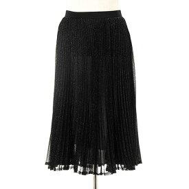 マックスマーラ MAX MARA WEEKEND レディース スカート ブラック×シルバー VARNA 57710107 001 BLACK