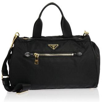 PRADA (Prada) 2-WAY handbag black BN1843 ZOT F0002 NERO TESSUTO PRADA puffy from it's Prada PLADA