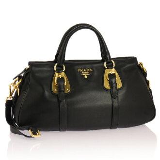 Prada 2-WAY handbag MEDIUM black BN1903 ZQE F0002 NERO BAULETTO PRADA puffy from it's Prada PLADA