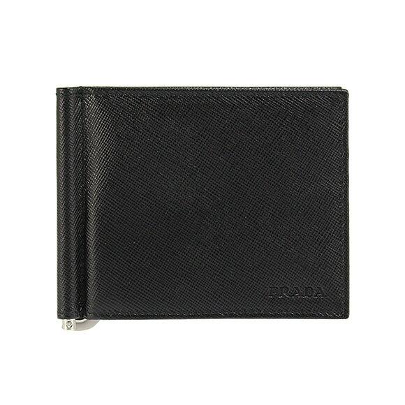 プラダ PRADA メンズ 財布 二つ折り財布(マネークリップ) ブラック BILLFOLD 2MN077 053 F0002 NERO