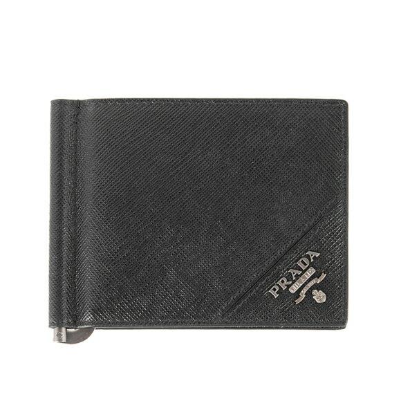 プラダ PRADA メンズ 財布 二つ折り財布(マネークリップ) ブラック BILLFOLD 2MN077 QME F0002 NERO