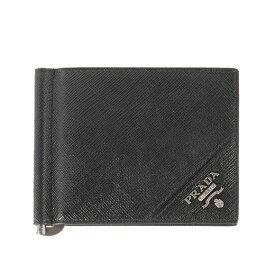 プラダ PRADA 財布 メンズ 二つ折り財布(マネークリップ) ブラック WALLET BILLFOLD 2MN077 QME F0002 NERO