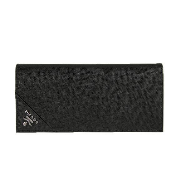プラダ PRADA メンズ 長財布(小銭入れ付) ブラック WALLET PORTAF. VERTICALE 2MV836 QME F0002 NERO 【送料無料】