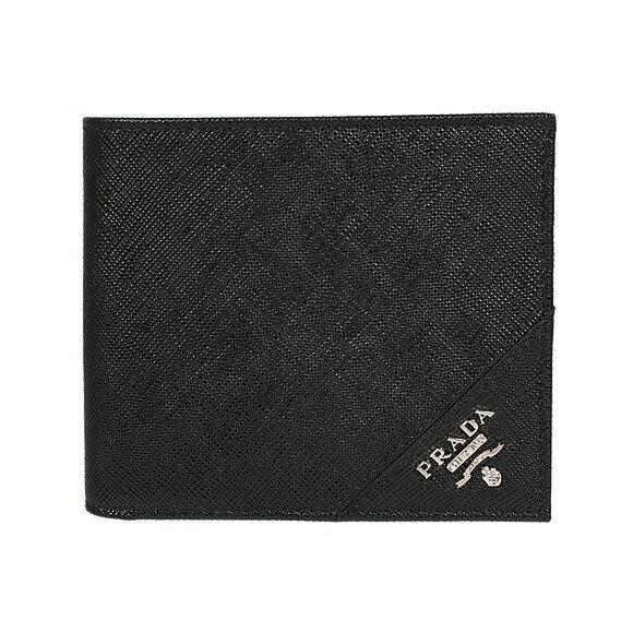 プラダ PRADA メンズ 二つ折り財布 ブラック PORTAF.ORIZZONTALE 2MO513 QME F0002 NERO