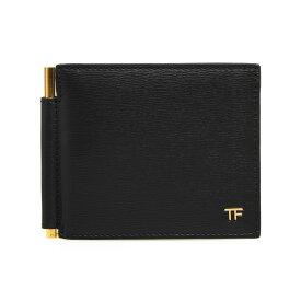 トムフォード TOM FORD 財布 メンズ 二つ折り財布(マネークリップ) ブラック GRAIN LEATHER T LINE MONEY CLIP WALLET Y0231T LCL053 U9000 BLACK