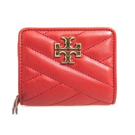 トリーバーチ TORY BURCH 財布 レディース 二つ折り財布 アップルレッド KIRA CHEVRON BI-FOLD WALLET 56820 611 RED APPLE【ミニ財布】