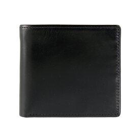 ホワイトハウスコックス WHITEHOUSE COX 財布 メンズ 二つ折り財布(小銭入れ付) ブラック COIN WALLET BRIDLE S7532 BLACK【英国】