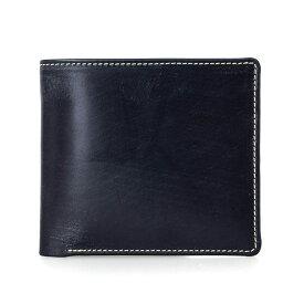 ホワイトハウスコックス WHITEHOUSE COX 財布 メンズ 二つ折り財布(小銭入れ付) ネイビー COIN WALLET BRIDLE S7532 NAVY【英国】