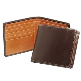 ホワイトハウスコックス WHITEHOUSE COX 財布 メンズ 二つ折り財布(小銭入れ付) ハバナブラウン/ニュートン COIN WALLET BRIDLE 2TONE S7532 HAVANA/NEWTON【英国】