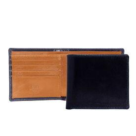 ホワイトハウスコックス WHITEHOUSE COX 財布 メンズ 二つ折り財布(小銭入れ付) ネイビー/ニュートン COIN WALLET BRIDLE 2TONE S7532 NAVY/NEWTON【英国】