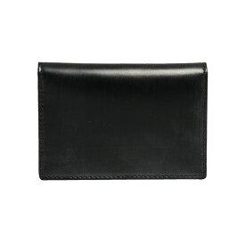 ホワイトハウスコックス WHITEHOUSE COX メンズ 名刺入れ(カードケース) ブラック NAME CARD CASE BRIDLE S7412 BLACK【英国】