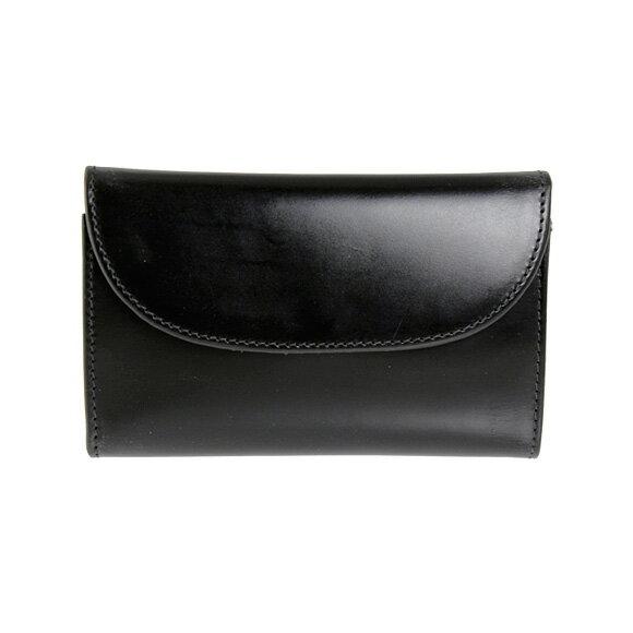ホワイトハウスコックス Whitehouse Cox 財布 三つ折り財布(小銭入れ付) ブラック THREE FOLD PURSE S7660/SR1112 BLACK【英国】