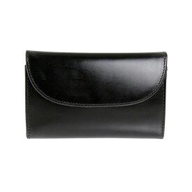 ホワイトハウスコックス WHITEHOUSE COX 財布 三つ折り財布(小銭入れ付) ブラック 3FOLD WALLET BRIDLE S7660 BLACK【英国】