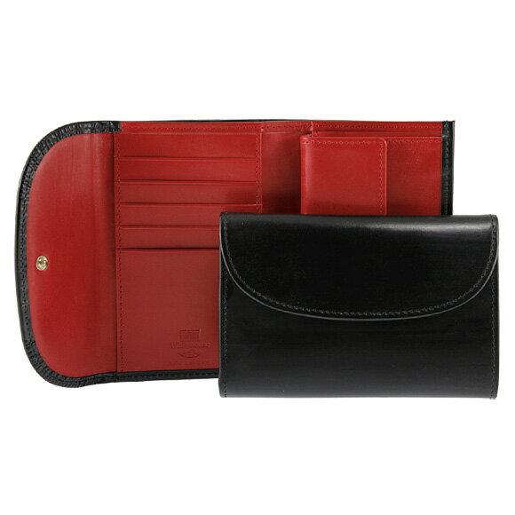 ホワイトハウスコックス Whitehouse Cox 財布 三つ折り財布(小銭入れ付) ブラック / レッド FOLD WALLET S7660 BLACK/RED【英国】